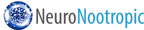 NeuroNootropic Logo featuring a blue brain