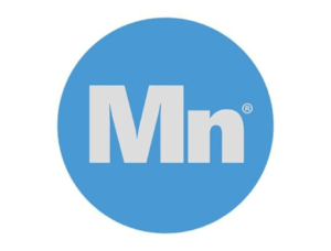 Mind Nutrition UK Logo featuring a blue circle with Mn in the middle