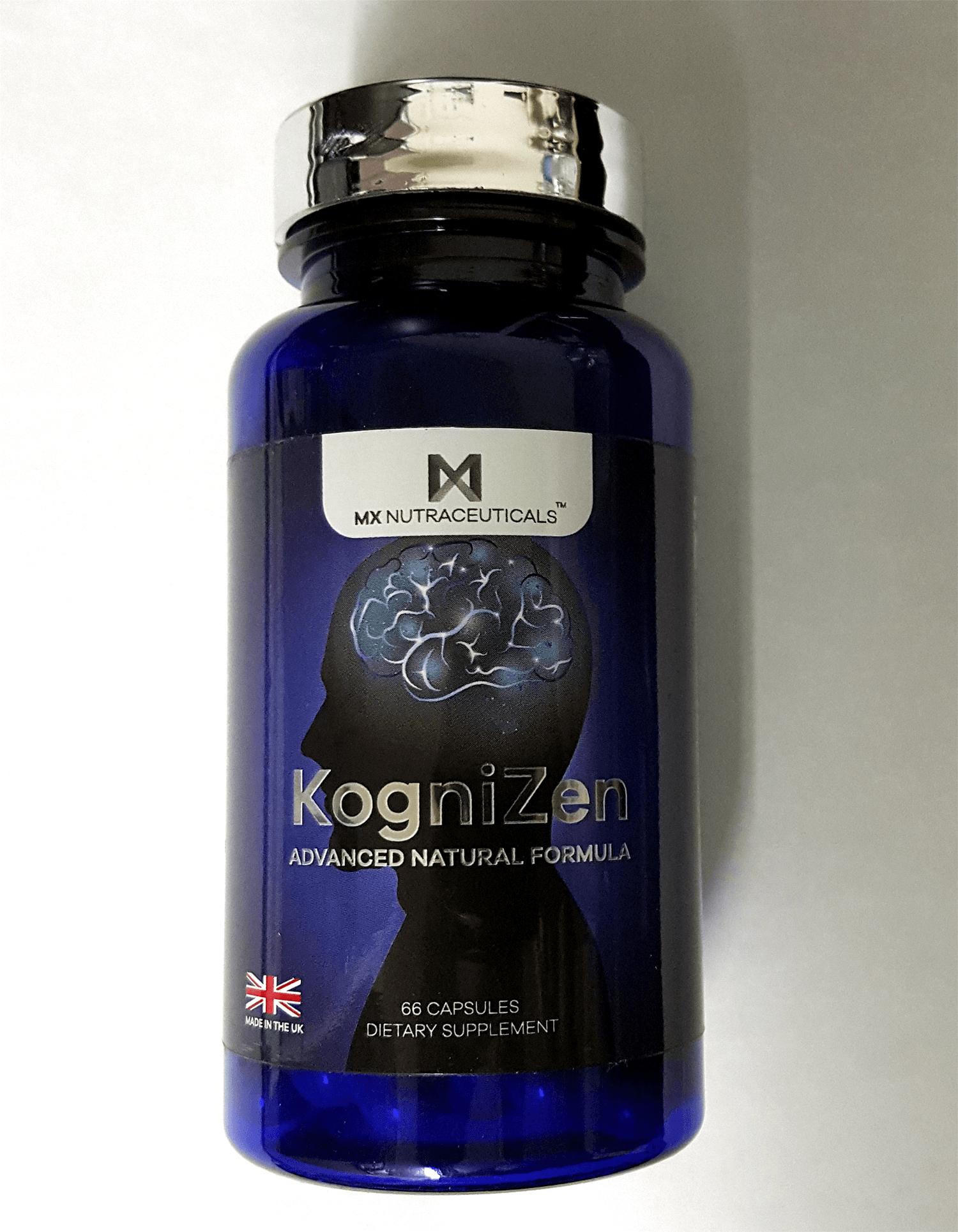 Front of the KogniZen bottle